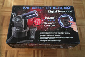 Meade ETX-60AT Refractor Telescope Like New In Box