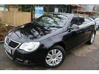 VW Eos 1.4 TSI Convertible Black Long MOT Low Mileage Finance Available