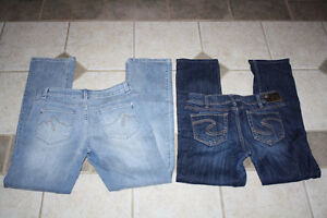 Women's Silver brand jeans and Denver Hayes jeans