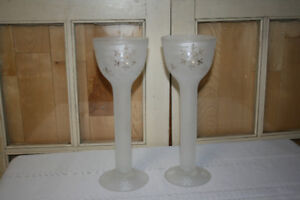 "Christmas- Frosted Glass 11"" Snowflake Votive Holders"