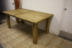 Table + Ext ACACIA MASSIF – SOLID ACACIA Dining table + ext