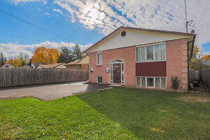 4 bed 2 bath raised ranch semi on large property in great area
