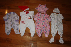 Size 3 months girls winter clothes