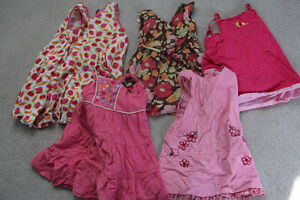 Girls Size 4 beautiful summer dresses lot of 5