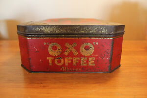 Old Large OXO Toffee Tin - Rare London Ontario image 5