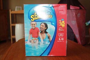 Never Opened Huggies Little Swimmers size Large
