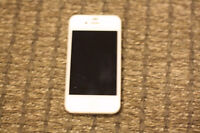 IPhone 4 with charger and case