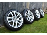 "VW Sirocco 17"" Alloy Wheels and Excellent Tyres 235/45r17 5x112"