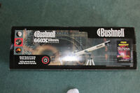 New, Bushnell refractor telescope:  660 X 60 mm;  Model 78 – 966
