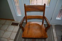 Oak Swivel Chair