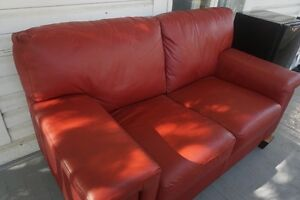 2-Seat Leather Couch - BEAUTIFUL