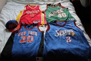 3 x jersey tank top NBA Houston Rockets NY Philly Champion hat