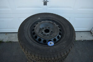 VW Jetta/Rabbit 195/65/15 Continental Snows On Rims 75% Tread