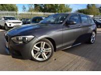 2012 62 BMW 1 SERIES 2.0 120D M SPORT 5D-DAB-COMFORT PACK-FRONT REAR PDC-AUTO