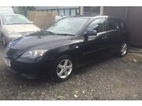 06 plate black Mazda 3 5 door 1.6 petrol