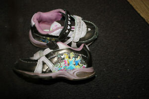 Brown with Pink Princess Running Shoes - Size 7 Peterborough Peterborough Area image 2