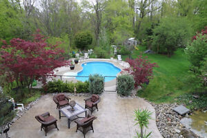 Spend Your Summers In Your Own Backyard!! Backing Onto Ravine.