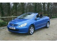 CONVERTIBLE Peugeot 307 CC 2.0 16v Coupe done 66657 Miles with SERVICE HISTORY