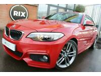 BMW 2 SERIES,2.0 220D M SPORT 2D AUTO-1 OWNER FROM NEW-20 ROAD TAX-18 ALLOYS-SA for sale  Warrington, Cheshire