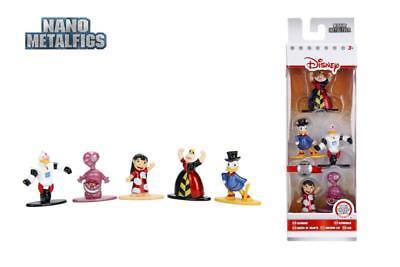 Jada Nano Figures Disney 5 pack W2- Scrooge Queen Hearts Chesire Cat Lilo Gizmo
