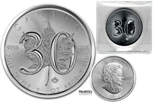 2018 SILVER 30TH ANNIVERSARY OF THE MAPLE LEAF COIN