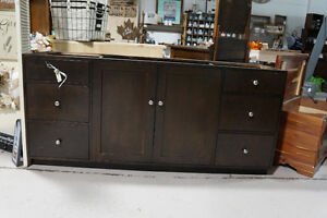 """72""""  Solid Maple Vanity - with dovetail drawer boxes London Ontario image 1"""