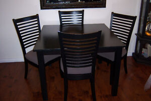 Black Dining Room Table with 4 chairs