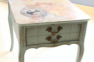 END TABLES, REFINISHED, HAND PAINTED, FOR HOME OR COTTAGE