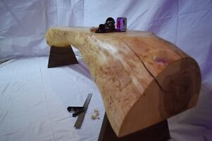 Solid Ash Live Edge Bench