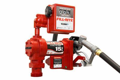 Fill-rite Fr1211g Fuel Transfer Pump 12v Dc 15 Gpm 14 Hp 34 Hose Nozzle