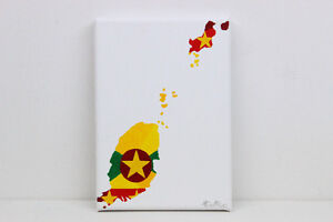 Grenada Flag Map Original Painting