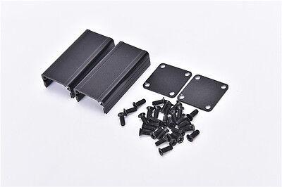 Extruded Aluminum Box Black Enclosure Electronic Project Pcb Diy 502525mrchm