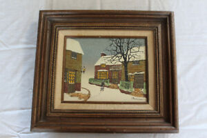 "H. Hargrove original oil painting ""School"""
