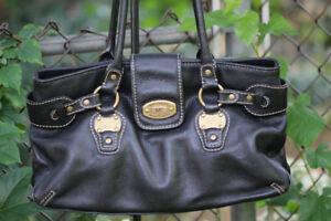 Michael Kors - vintage satchel - black leather - excellent cond!