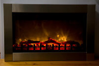 Electric Fireplace Stainless Steel