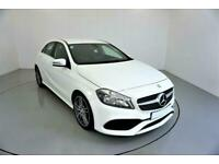 2017 WHITE MERCEDES A160 1.6 AMG LINE MANUAL HATCH CAR FINANCE FR £225 PCM