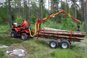 Log loader / Trailer for ATV and Compact tractors from $160/M