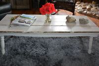 Distressed white coffee table!