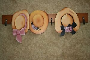 Hand Crafted Tole Painted Hats