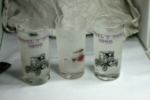 """Model T Ford 1909 & 1910"" Bar Drinking glasses Vintage Kingston Kingston Area image 2"