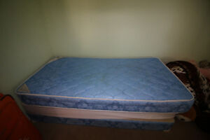 Box Spring with 2 Mattresses (Twin Size) - BEST OFFER