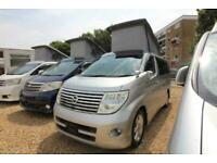 2006 Nissan Elgrand Mistral Camper 4 berth Highway Star 2.5 5 door Motorhome