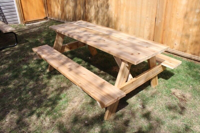 Picnic Table Ft To Ft Spruce Treated Or Cedar Patio - Spruce picnic table