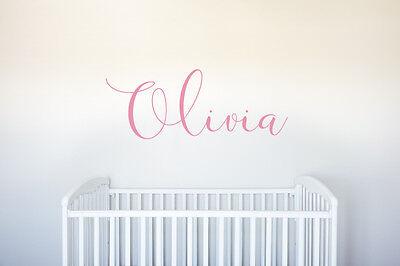 Nursery Name Art - Personalized Name Vinyl Decal Wall Art Custom Nursery Children Girl Baby Room