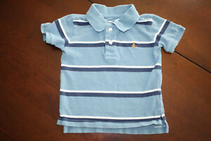 Baby GAP Golf Shirt - Blue Striped- 3T