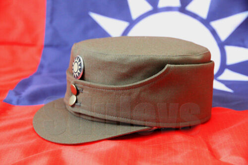 WWII China army elite force officer green combat cap