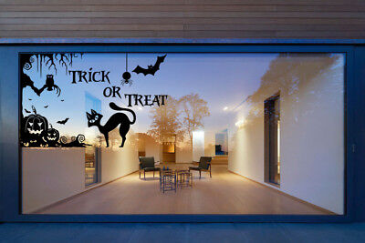 Halloween Trick or Treat Silhouette Vinyl Stickers Window Decals Wall Stickers - Halloween Silhouette Stickers