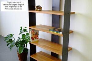 bibliothèque bois & métal (neuf)