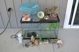 Reptile / Fish aquarium and accessories