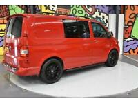 2013 VW TRANSPORTER T5 T30 SWB 2.0 TDI 140PS DSG KOMBI SPORTLINE PK CHERRY RED